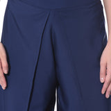 Uptownie Plus Navy Blue Solid Palazzo 5 trendsale