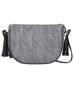 Ash Grey Tassel Cross Body Bag