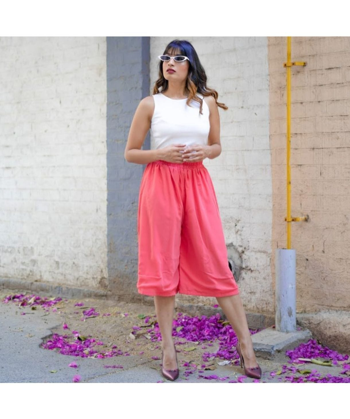 Pink Adjustable Culottes - Uptownie