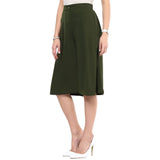 Uptownie Solid Green Adjustable Culottes 4 Sale at 399
