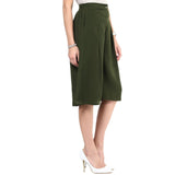 Uptownie Solid Green Adjustable Culottes 5 trendsale