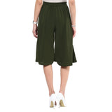 Uptownie Solid Green Adjustable Culottes 6 trendsale