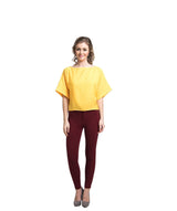 Uptownie Solid Yellow Boxy Top 4 summer sale