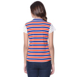 Uptownie Striped Multi-color Casual T-shirt (cotton)2 clearance sale