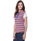 Uptownie Striped Multi-color Casual T-shirt (cotton) 3 clearance sale