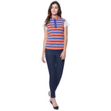 Uptownie Striped Multi-color Casual T-shirt (cotton) 4 summer sale