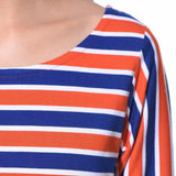 Striped Red Casual T-shirt (cotton)