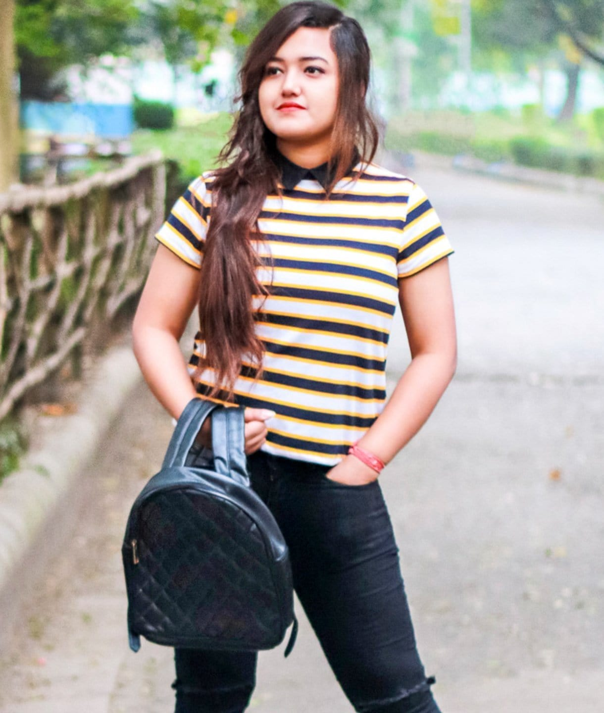 Striped Yellow & Black T-shirt - GET FREE GIFT