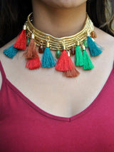 Tassel Layered Choker - Uptownie