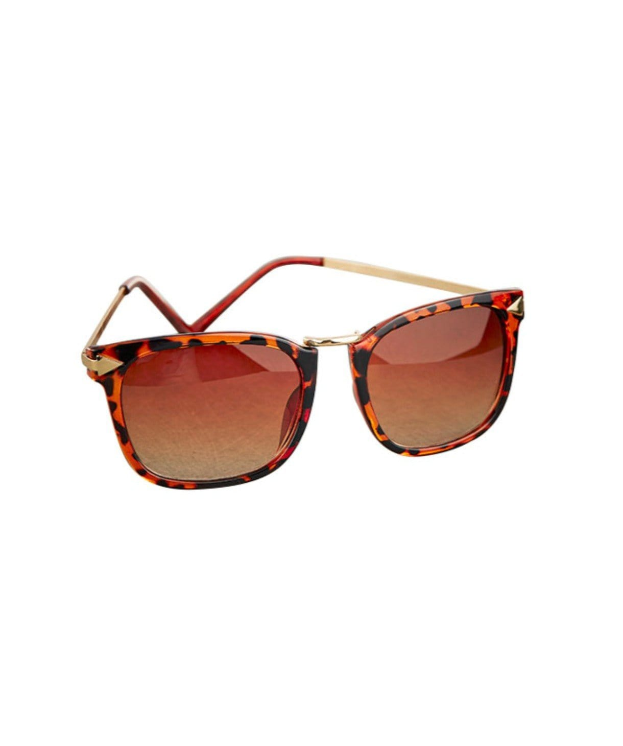 Tortoise Shell Metal Bridge Sunglasses - Uptownie