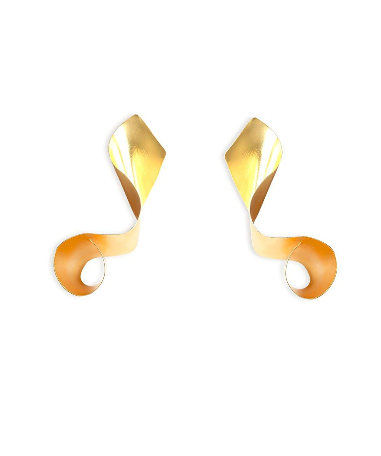 Twister Gold Earrings - Uptownie