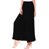 Solid Black Pleated Palazzos