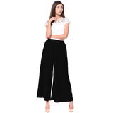 Uptownie Plus Black Pleated Crepe Palazzo 3 clearance sale