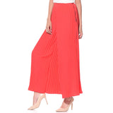 Uptownie Plus Coral Pleated Crepe Palazzo 3 summer sale