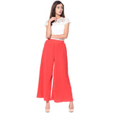 Uptownie Plus Coral Pleated Crepe Palazzo 5 trendsale