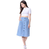 Solid Sky Blue Skirt