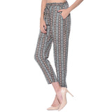Printed Black Casual Pants