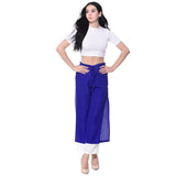 Colorblocked Blue & White Palazzos