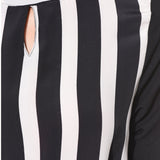 Black & White Striped Jumpsuit