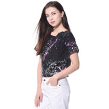 Printed Black Casual Top