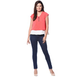 Solid Coral Casual Top