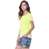 Solid Yellow Lace T-shirt (cotton)