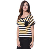 Striped Black & Yellow T-shirt (cotton)