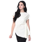 Solid White Asymmetric Top