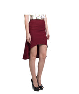 Solid Maroon Hi-Low Skirt