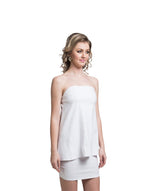 Solid White Off Shoulder Cotton Dress - Uptownie