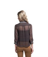 Solid Brown Casual Top