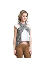The Deliciously Edgy Contrast Top