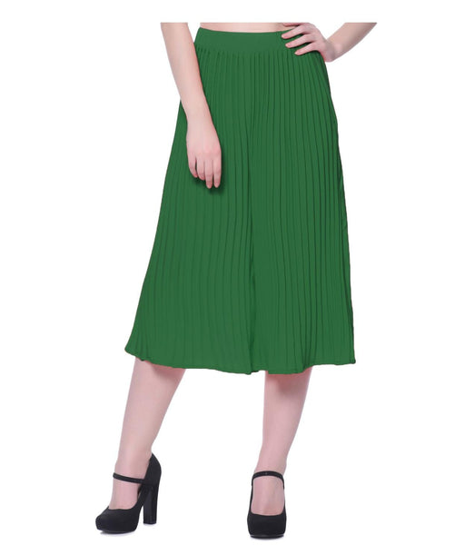 Uptownie Green Pleated Adjustable Culottes 1 summer sale