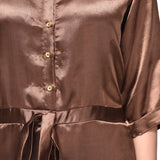 Brown Satin Jumpsuit