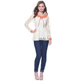 Solid White Lace Long Sleeves Top. BUY 3 GET 2