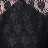 Solid Black Lace Top