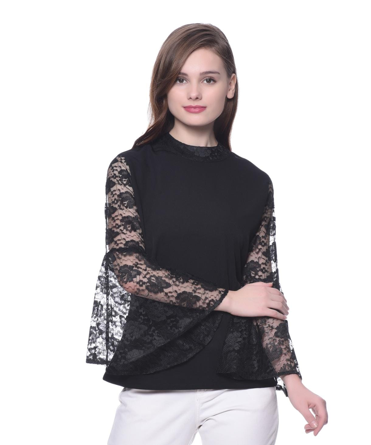 Lace-y Goddess Bell Sleeved Top