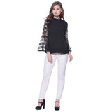 Solid Black Lace Bell Sleeves Top. BUY 1 GET 3