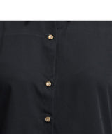 Solid Black Button Down Shirt