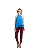 Solid Blue Halter Crepe Top. BUY 1 GET 3