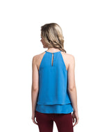 Solid Blue Halter Top
