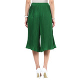 Uptownie Dark Green Pleated Culottes 4 trendsale