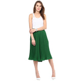 Green Pleated Culottes