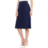 Uptownie Navy Blue Knee Culottes 3 Sale at 399