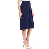Uptownie Navy Blue Knee Culottes 4 Sale at 399