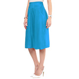 Uptownie Sky Blue Rayon Adjustable Culottes 2 clearance sale