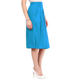 Uptownie Sky Blue Rayon Adjustable Culottes 3 clearance sale