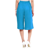 Uptownie Sky Blue Rayon Adjustable Culottes 4 summer sale
