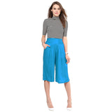 Uptownie Sky Blue Rayon Adjustable Culottes 5 summer sale