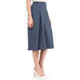 Uptownie Grey Box Pleat Adjustable Culottes 3 trendsale
